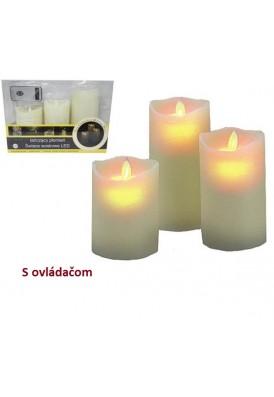 Vosková LED sviečka s ovládačom 3ks SW11