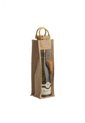 Jutová taška pre 1 fľašu